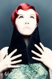 Retrato do vintage de uma menina ruivo Imagens de Stock