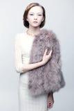 Retrato do vintage de uma mulher nova Foto de Stock Royalty Free