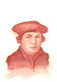 Retrato do Watercolour de Martin Luther Fotografia de Stock