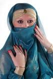 Retrato do whith da menina um yashmak Imagem de Stock Royalty Free