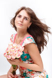 Retrato do woma bonito novo Imagens de Stock
