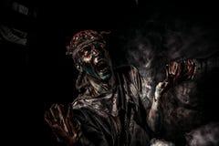 Retrato do zombi imagens de stock royalty free