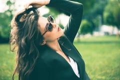 Retrato dos óculos de sol Imagens de Stock Royalty Free