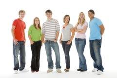 Retrato dos adolescentes e dos meninos foto de stock