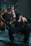 Retrato dos bodybuilders fotos de stock royalty free