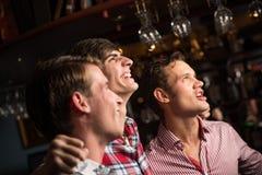 Retrato dos fãs na barra Fotografia de Stock
