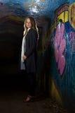 Retrato dos grafittis imagens de stock royalty free
