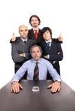 Retrato dos homens de negócio imagem de stock