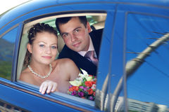 Retrato dos noivos Fotos de Stock Royalty Free