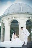 retrato dos pares do casamento Imagens de Stock