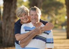 Retrato dos pares maduros bonitos e felizes superiores americanos AR Imagem de Stock Royalty Free