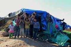 Retrato dos refugiados imagens de stock