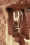 Retrato dos undergroundcaves Derinkuyu Imagem de Stock Royalty Free