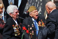 Retrato dos veteranos de guerra Foto de Stock Royalty Free