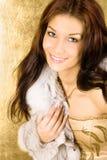 Retrato dourado fotografia de stock