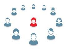 Retrato e ícone humanos Ilustração do vetor Fotos de Stock
