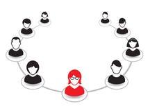 Retrato e ícone humanos Ilustração do vetor Equipe do escritório Imagens de Stock