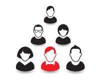 Retrato e ícone humanos Ilustração do vetor Equipe do escritório Fotos de Stock Royalty Free
