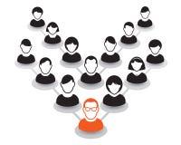 Retrato e ícone humanos Ilustração do vetor Equipe do escritório e Le Foto de Stock