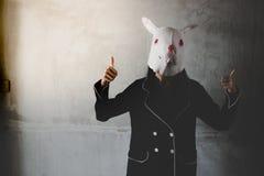 Retrato el fantasma del conejo fotografía de archivo