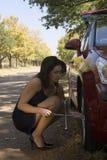 Retrato em mudança do pneumático Foto de Stock