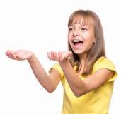 Retrato emocional da menina fotografia de stock royalty free