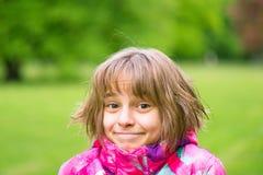 Retrato emocional de la muchacha Imágenes de archivo libres de regalías