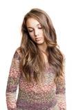 Retrato emocional del brunette joven. Fotos de archivo