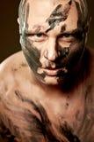 Retrato emocional del combatiente Fotos de archivo libres de regalías