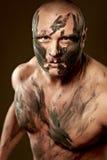 Retrato emocional del combatiente Fotografía de archivo libre de regalías