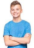 Retrato emocional del muchacho adolescente Imagenes de archivo