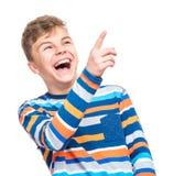 Retrato emocional del muchacho adolescente Imagen de archivo libre de regalías