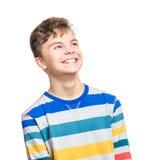 Retrato emocional del muchacho adolescente Imágenes de archivo libres de regalías