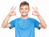 Retrato emocional del muchacho adolescente Fotos de archivo libres de regalías