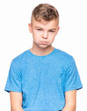 Retrato emocional del muchacho adolescente Fotografía de archivo