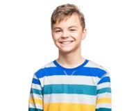 Retrato emocional del muchacho adolescente Foto de archivo libre de regalías