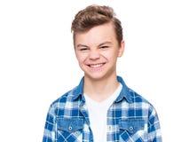 Retrato emocional del muchacho adolescente Fotos de archivo