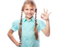 Retrato emocional del primer de la muchacha caucásica atractiva Fotografía de archivo