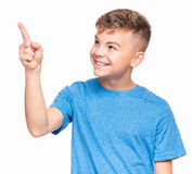 Retrato emocional do menino adolescente imagem de stock royalty free