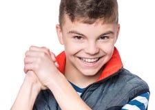 Retrato emocional do menino adolescente foto de stock royalty free