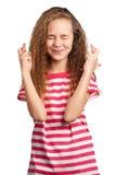 Retrato emocionalmente de la muchacha Foto de archivo libre de regalías