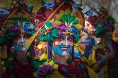Retrato en carnaval fotos de archivo