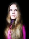 Retrato en color de rosa Foto de archivo libre de regalías