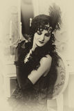 Retrato en estilo retro foto de archivo
