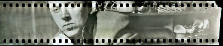 Retrato en la película análoga Imagen de archivo