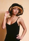 Retrato en un sombrero Imagenes de archivo