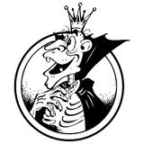 Retrato engraçado de um vampiro Foto de Stock