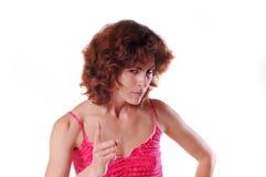 Retrato enojado de la mujer Fotos de archivo