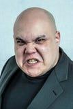 Retrato enojado del hombre Foto de archivo libre de regalías