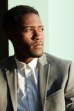 Retrato ensolarado do cavalheiro africano considerável imagem de stock royalty free